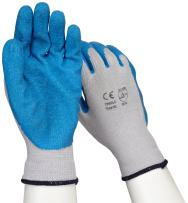 West Chester 700SLC Latex Palm Coated Gloves-X-Large, Blue/Gray, 10 Gauge Knit Shell and Heavy Latex
