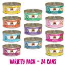 Weruva Classic Cat Variety Pack, 5.5 Ounce Cans Pack of 24
