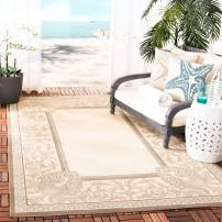 """Safavieh Courtyard Collection CY7514-79A18 Beige and Dark Beige Indoor/ Outdoor Area Rug (5'3"""" x 7'7"""")"""