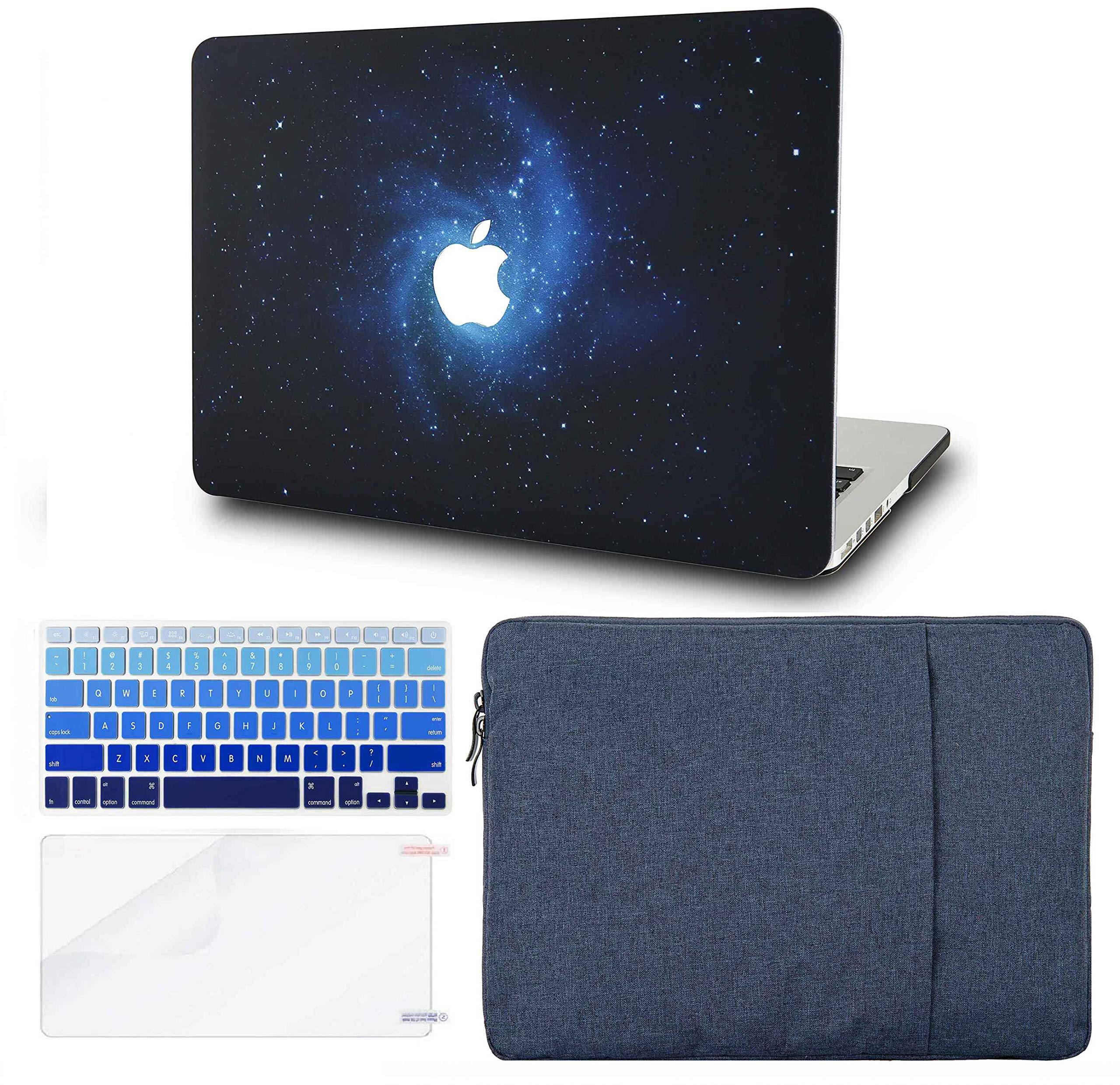 """KECC Laptop Case for MacBook Air 13"""" w/Keyboard Cover + Sleeve + Screen Protector (4 in 1 Bundle) Plastic Hard Shell Case A1466/A1369 (Blue)"""