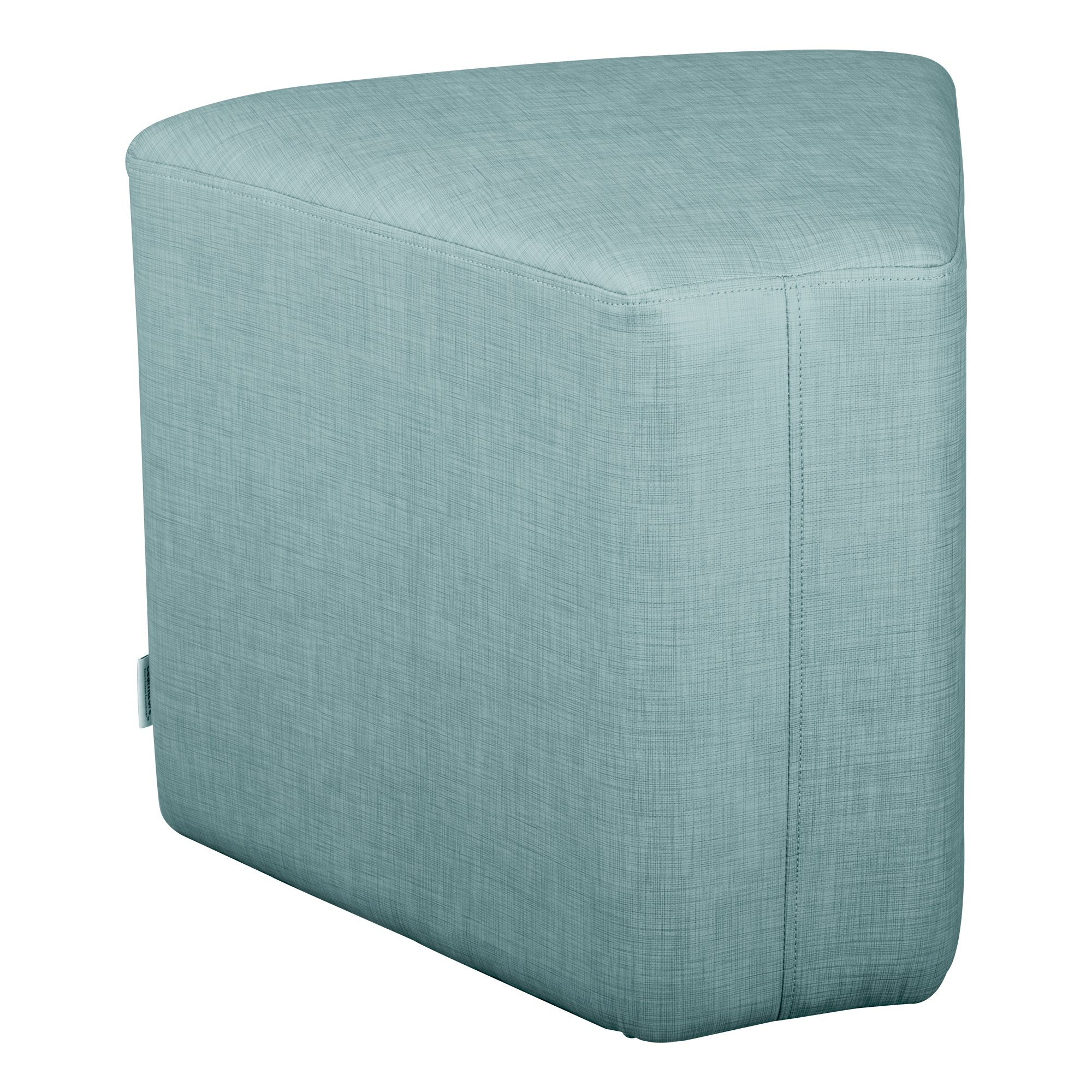 "Shapes Series II Structured Vinyl Soft Seating with Durable Frame - Wedge Stool 18""H- Blue Crosshatch"