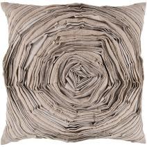 """Surya AR-002 Hand Crafted 70% Cotton / 30% Linen Desert Sand 18"""" x 18"""" Textural Decorative Pillow"""