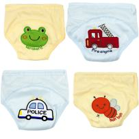 Adorable Toddler Potty Training Pants for Baby Boys and Girls,Size for 9 Months to 3 Years,Pure Cotton,4 Pack (12-18Months, A)