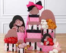 Valentine's Day Gift Tower of Hearts Valentine's Day Special Gift Tower Featuring Godiva.