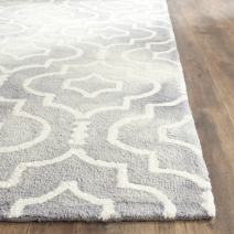 Safavieh Dip Dye Collection DDY538C Handmade Geometric Moroccan Watercolor Grey and Ivory Wool Area Rug (2' x 3')