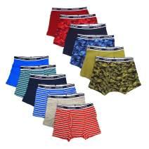 CHEROKEE Boys' Little 12-Pack Tag-Free Performance Cotton Boxer Briefs Underwear