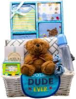 Nikki's New Arrival Baby Boy Gift Basket (Blue)