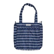 JuJuBe Be Light Everyday Lightweight Zippered Tote Bag, Coastal Collection - Nantucket