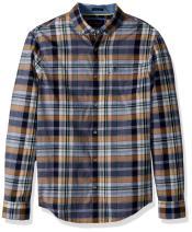 Original Penguin Men's Long Sleeve Plaid Button Down Shirt