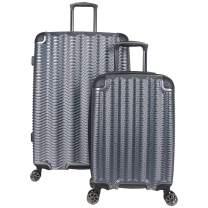 "Kenneth Cole Reaction Wave Rush' 2-Piece 20""/28"" Lightweight Hardside 8-Wheel Expandable Luggage Set, Metallic Charcoal"