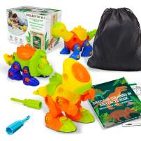 Ivy Step Dinosaur Toys for 4 Year Old. Excellent Building Toy for Boys and Girls with Tidy up Storage Bag and Coloring Book