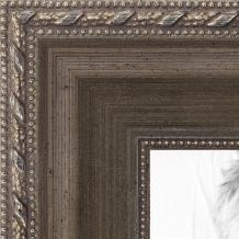 ArtToFrames 18x24 inch Muted Silver with Metallic Detailing Wood Picture Frame, WOMD5027-18x24