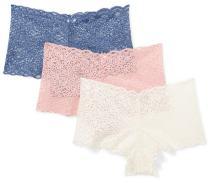 Amazon Brand - Mae Women's Galloon Lace Cheeky Underwear, 3 Pack