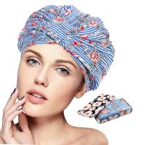 Shower caps reusable for women's, waterproof turban shower caps, suitable for shower ,long hair shower cap & jumbo braid hair cap