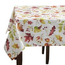 """Benson Mills Leaves Of Change Fabric Printed Tablecloth, 60"""" x 120"""""""