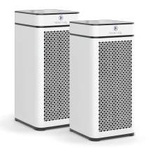 Medify Air MA-40-W2 V2.0 Air Purifier with H13 HEPA filter - a higher grade of HEPA for 840 Sq. Ft. Air Purifier, 99.9%   Modern Design - White (2-Pack)
