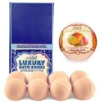 Bela Bath & Beauty, Bela Premium Bath Bombs, Tangerine Guava, With Moisturizing Shea Butter and Coconut Oil, 4.5 oz Each - Set of 8