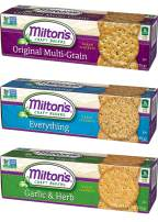 Milton's Gourmet Crackers. Multi-Grain, Everything, and Garlic & Herb Bundle Non-GMO Baked Crackers (3 Flavor Variety Bundle, 8.3 Ounces).