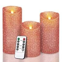 Luxury Flameless LED Candles Wedding Decor Gifts, Realistic Bright Flickering Bulb Battery Operated Flameless Candle Light for Seasonal & Festival Celebration, Electric Fake Candle Wedding Decoration