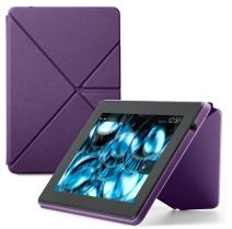 Amazon Kindle Fire HD Standing Polyurethane Origami Case (only fit 3rd generation), Purple