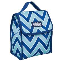Wildkin Kids Insulated Lunch Bag for Boys and Girls, Lunch Bags is Ideal Size for Packing Hot or Cold Snacks for School and Travel, Mom's Choice Award Winner, BPA-Free (Chevron Blue)