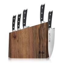 Cangshan TS Series 1024876 Swedish Sandvik 14C28N Steel Forged 6-Piece Knife Block Set, Walnut