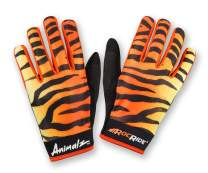 RocRide Animalz Cycling Gloves Orange Tiger. Full-Fingered with Screen Compatible Tips. Mountain Biking, Road and BMX. Expressive Animal Print Designs.
