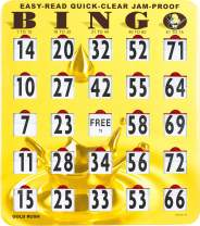 MR CHIPS Jam-Proof Quick-Clear Easy-Read Large Bingo Cards with Sliding Windows - Gold Rush