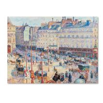 Place du Havre 1893 Artwork by Camille Pissarro, 24 by 32-Inch Canvas Wall Art