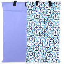 Wegreeco Reusable Hanging Wet Dry Cloth Diaper Bag (2 Pack, Plane,Violet)