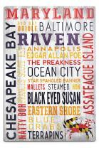 Lantern Press Maryland, Rustic Typography 56780 (12x18 Aluminum Wall Sign, Metal Wall Decor)