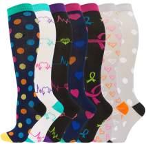 Women Compression Socks (15-20 mmHg), Zando BEST Athletic Socks for Men Women Knee High Graduated Stockings for Running