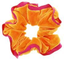 L. Erickson USA Edged Scrunchie - Lush Velvet Carrot/Passion Flower