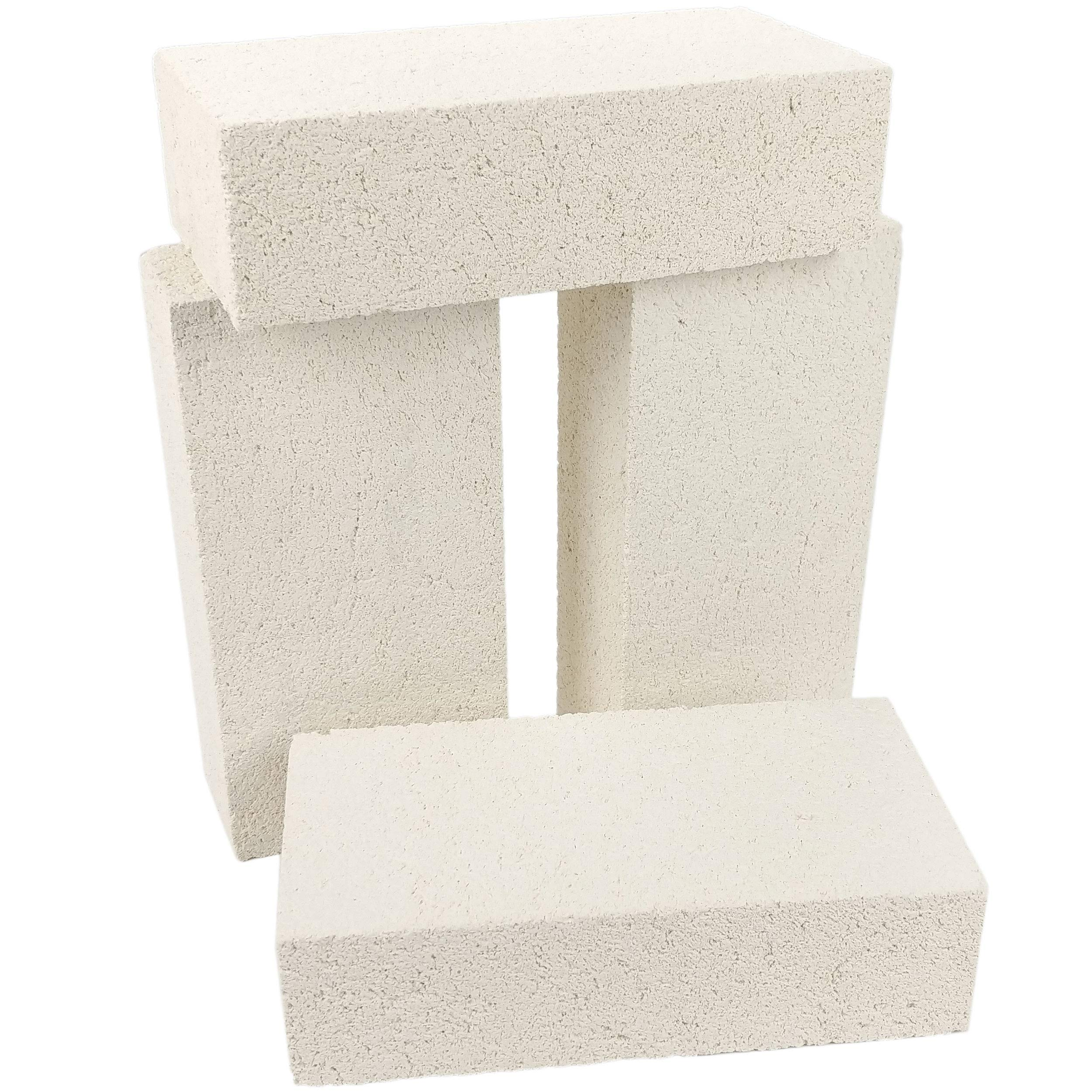 "Lynn Manufacturing Insulating Fire Brick, 2300F Rated, 4-Pack, for Kilns, Forges, Metal Clay Firing, Jewelry Soldering, 9"" x 4.5"" x 2.5"", K-23, 3123R"