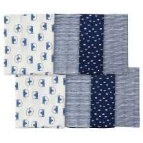 Gerber Baby Boys' 8-Pack Flannel Burp Cloth, fox, One Size