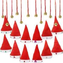 JOYIN 1 Dozen Fancy Santa Hats with 1 Dozen Jingle Bell Necklaces for Christmas Party-ONE SIZE FITS ALL