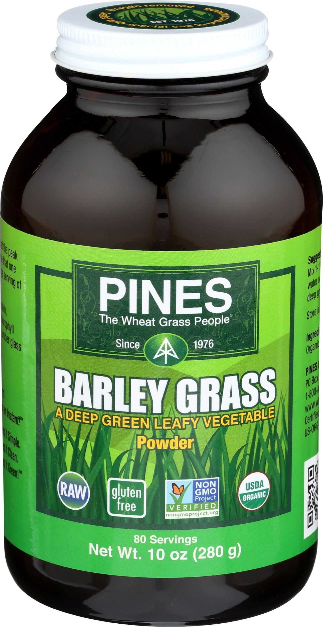 PINES Organic Barley Grass Powder, 10 Ounce