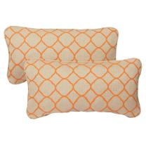 Mozaic Company Sunbrella Indoor/ Outdoor 12 by 24-inch Corded Pillow, Accord Koi, Set of 2