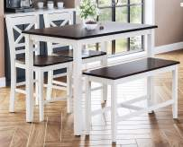 Jofran Asbury Park Dining Table Set, Counter Height, White
