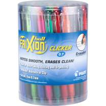 PILOT FriXion Clicker Erasable, Refillable & Retractable Gel Ink Pens, Fine Point, Assorted Color Inks, 36 Count Tub (14360)
