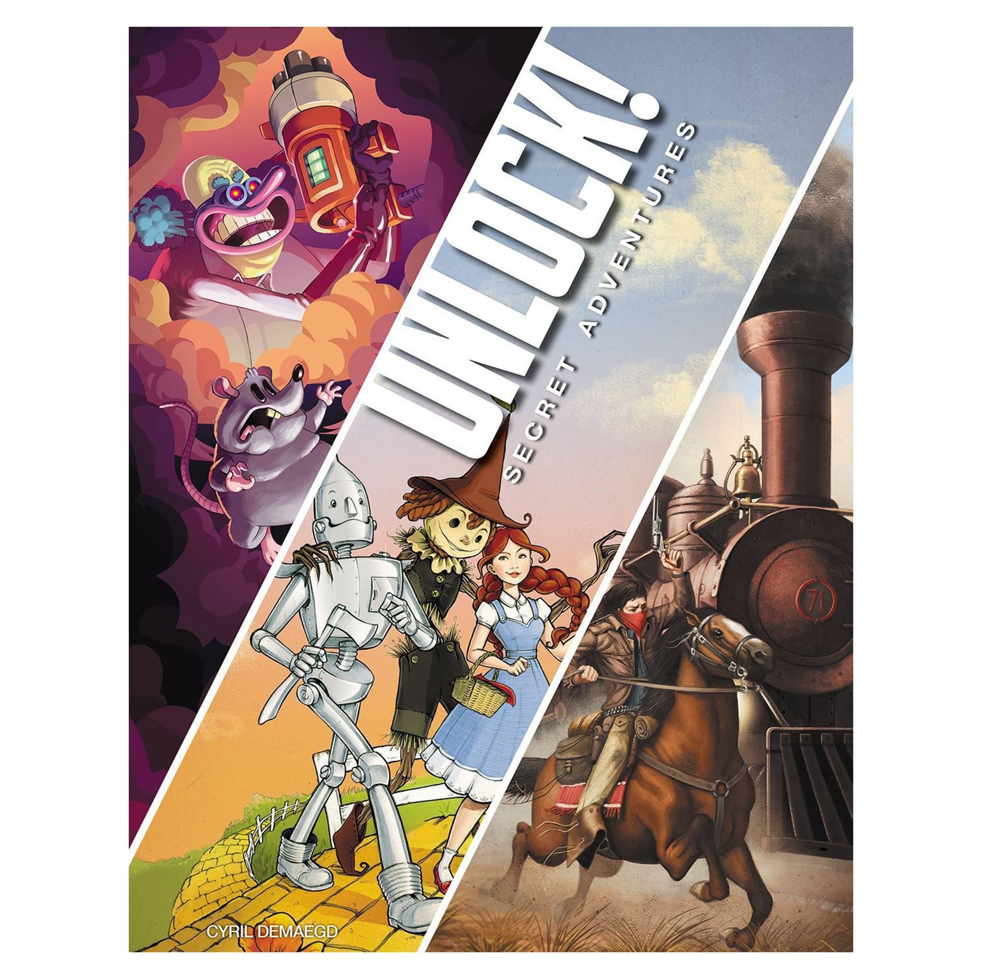 Space Cowboys ASMSCUNLOCK01EN Unlock 3! Secret Adventures - Escape Room Game - Multi-Colour