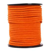 Mandala Crafts Round Faux Suede Leather Cord from Micro-Fiber for Jewelry Making, Crafting, Beading, Lacing (Orange, 3mm 11 Yards)
