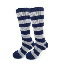 2PK Heat Thermal Socks for Women Men Winter Boots - Warm Soft Cozy As Cashmere (N. Stripe Extra Long, S/M)