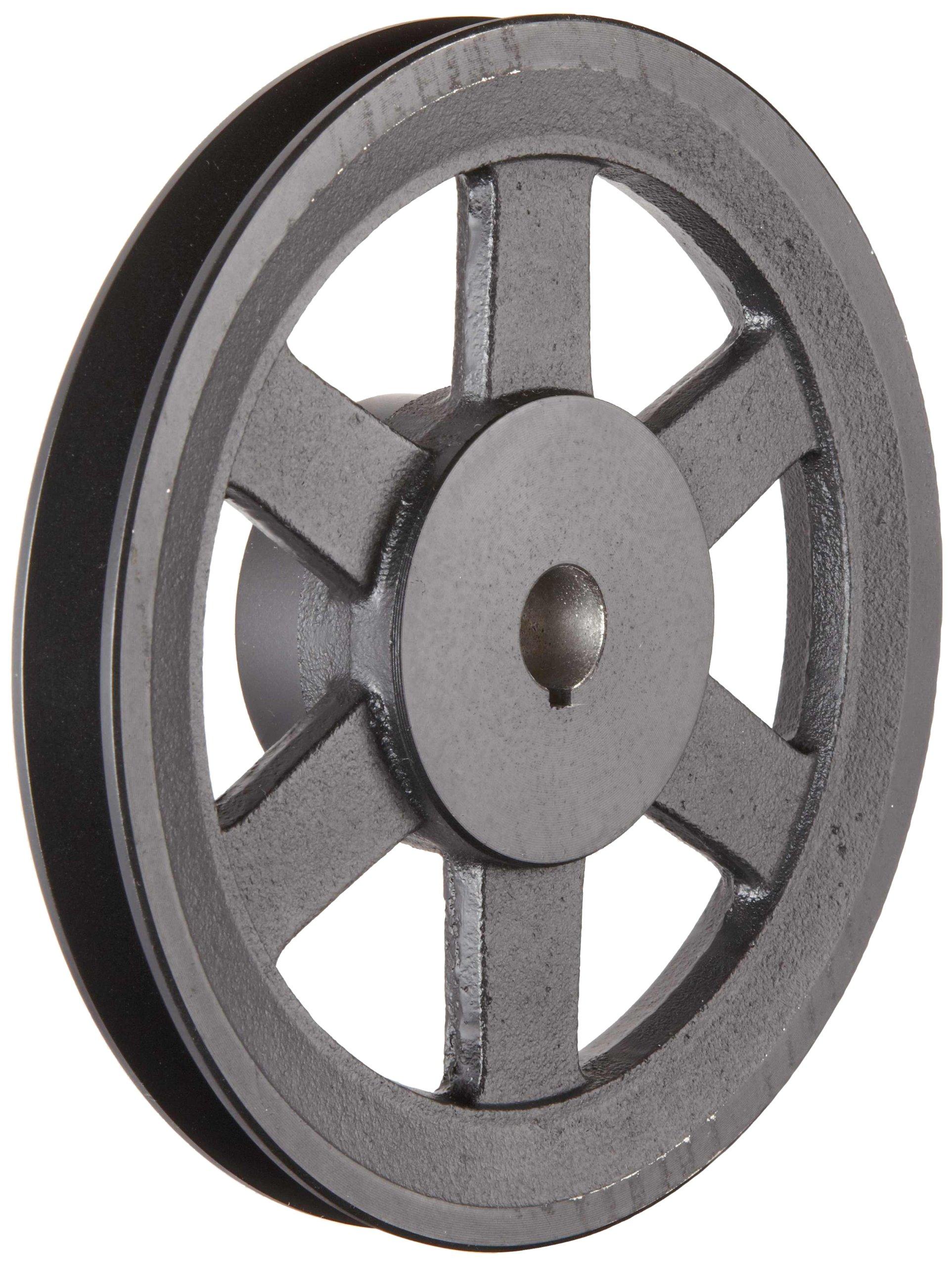 "Martin BK80 7/8 FHP Sheave BS, 4L/5L or B Belt Section, 1 Groove, 7/8"" Bore, Class 30 Gray Cast Iron, 7.75"" OD, 3201 max rpm, 7 Datum/7.4 Datum"