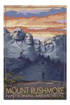 Mount Rushmore National Memorial, South Dakota - Sunset View (Premium 1000 Piece Jigsaw Puzzle for Adults, 20x30, Made in USA!)