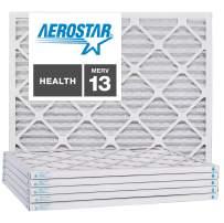 Aerostar 21 1/2x23 3/8x1 MERV 13, Pleated Air Filter, 21 1/2 x 23 3/8 x 1, Box of 6, Made in The USA
