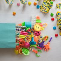 PartySticks Party Favors for Kids - 120pc Assorted Carnival Party Supplies, Small Bulk Toys for Goodie Bags