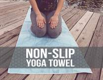 Hot Yoga Towel,Non-Slip Yoga Mat Cover,Eco-Friendly,Exclusive Pockets Cover Each Corner of The mat,Microfiber Yoga Towel,Ideal for Bikram, Hot Yoga, Pilates,or Sweaty Practice