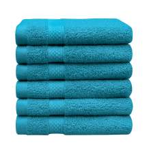"""Luxury Washcloths Set,13"""" x 13"""",700 GSM 100% Cotton Premium Quality Face Cloths, Highly Absorbent and Soft Feel ,6 Pack"""