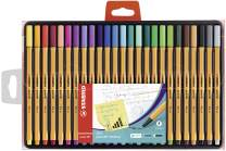 Stabilo Point 88 Wallet Fineliner Pens  , Set of 25 , Multicolored